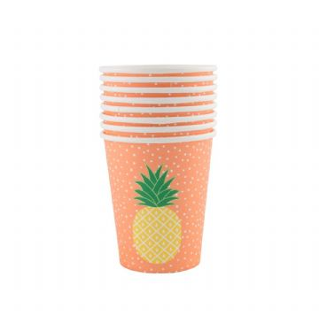 *SALE* Summer Pineapple Cups - pack of 8